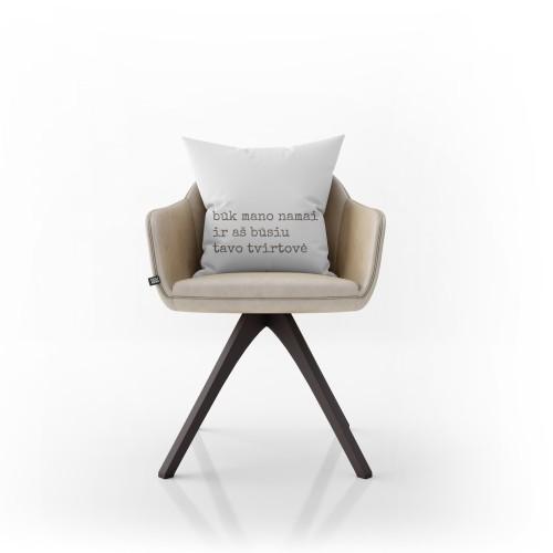 """Dekoratyvinė pagalvėlė """"Būk mano namai"""""""