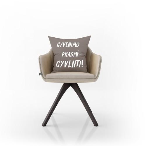"""Dekoratyvinė pagalvėlė """"Gyvenimo prasmė"""""""
