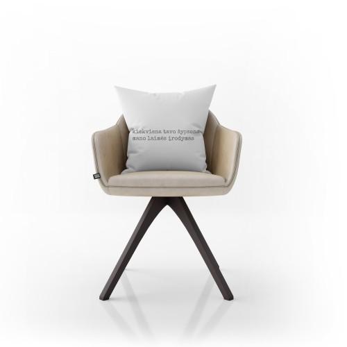 """Dekoratyvinė pagalvėlė """"Laimės įrodymas"""""""