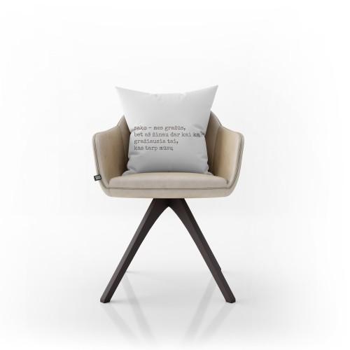 """Dekoratyvinė pagalvėlė """"Mes gražūs"""""""
