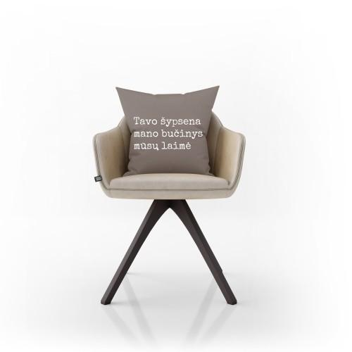 """Dekoratyvinė pagalvėlė """"Mūsų laimė"""""""