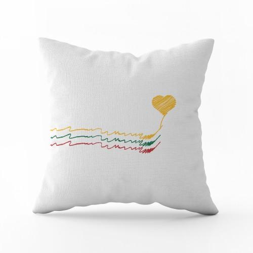 "Dekoratyvinė pagalvėlė ""Myliu Lietuvą"""
