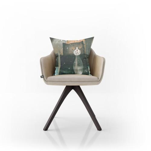 """Dekoratyvinė pagalvėlė """"Sapnų katinas"""""""